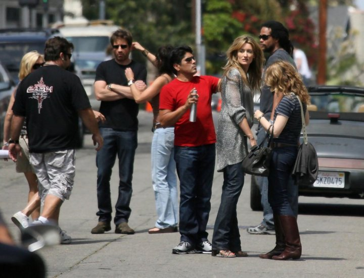 David Duchovny & Natascha McElhone sul Set di Californication
