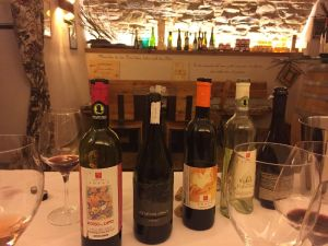 Degustazione in Vineria