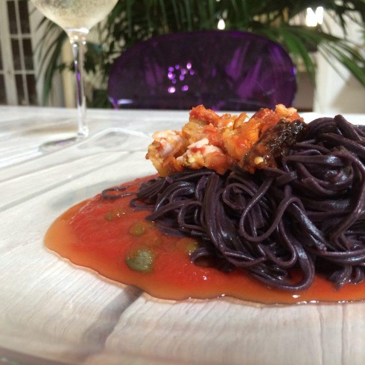 Linguine estive con Parmigiana di Melanzane veg