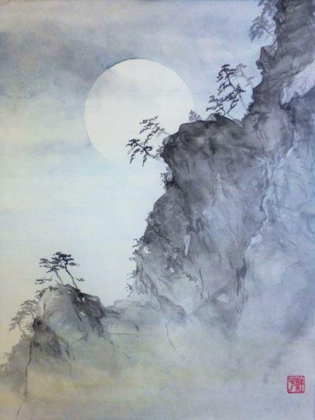 Paesaggio con Luna piena di Shoko Okumura | Photo credit Spazio D Lecco