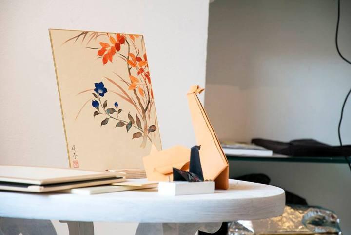 Pittura tradizionale giapponese e Origami | Photo Credit Spazio D Lecco
