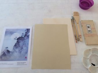 Workshop Paesaggio con Luna piena | Work in progress