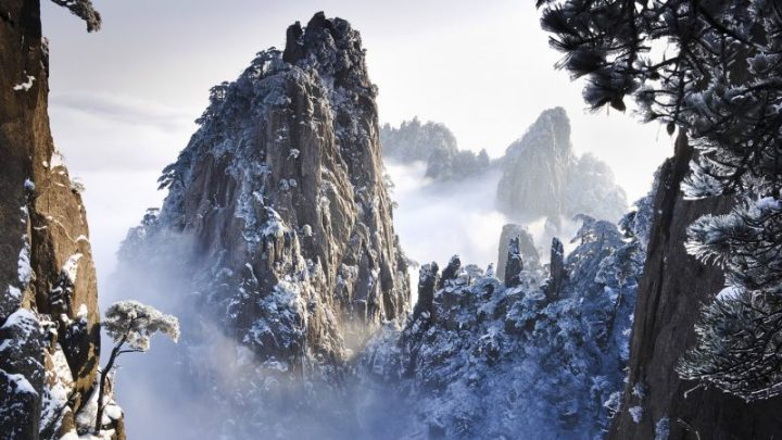 Le Huangshan innevate | Photo credit Wallpapers