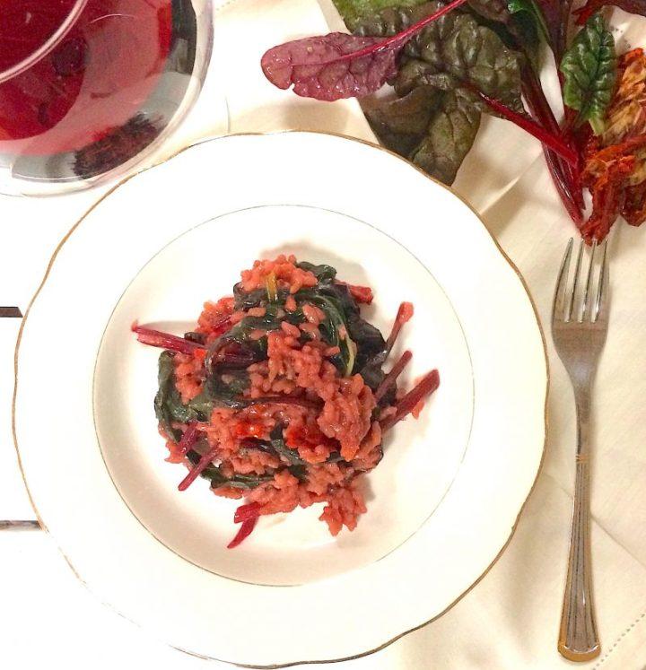Risotto in rosa con feurio e pomodori secchi🍅🍚🌿
