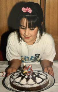Valeria pasticcera a 6 anni
